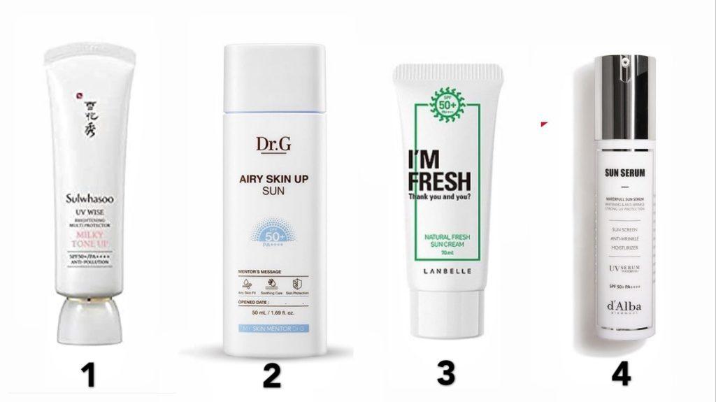 Best sunscreens for dry skin (korean beauty)